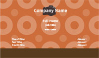 Orange Circles Photography Business Card Template